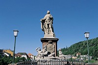 Statue of Theodor,Statue of Athena,Heidelberg,Germany