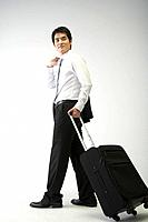 Korean Businessman with Suitcase