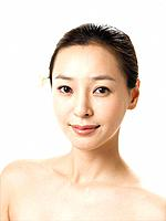 Close_up of Young Korean Woman\\´s Face