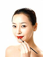 Woman Putting Make_up,Korea