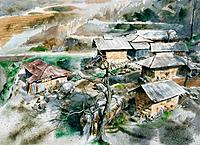 Landscapes by Jinchul Ryu,2006,Watercolor72.7X53cm