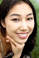 Close_up of Young Korean Woman\´s Face
