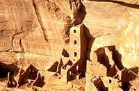 USA Colorado Mesa Verde National Park Square Tower House cliff dwellings of the Anasazi AD 1200