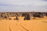 Africa, Libya, Maridet, desert, rocks, landscape,