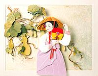 Paper Illustration,Korean Costume,Female