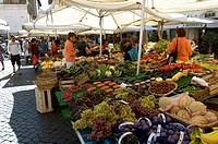 Italy, Rome, Campo dei Fiori, market_stands,