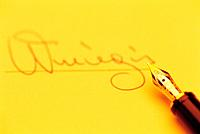 Signature,Fountain Pen,Business