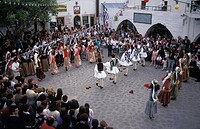 Dodecanese, Patmos, Easter Skala, Folk dances at Easter Festival
