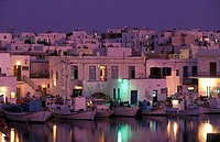Naoussa, port, fishing boats , Paros, Cyclades, Greece