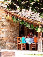 Italy, Tuscany, Castiglion Fibocchi, Fattoria La Vialla, house, terrace, family, eating, summer, winery, farm, estates, estate, wine_growing, agricult...