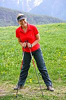 Senior, blond, Nordic Walking, young_remained,