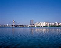 Olympicdaegyo Bridge,Gwangjin_gu,Hangang River,Seoul,Korea