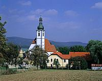 Czech republic, carlsbad, pilgrimage_church Kajov, Czech republic, Bohemia, west_Bohemia, Bohemian Forest, church, parish_church, construction, archit...