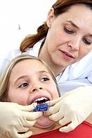 Dentist, girl, braces, adjusts, detail, series, people, doctor, woman, doctor, orthodontist, child, patient, treatment, braces, tooth_regulation, orth...