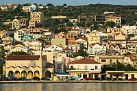 Greece, Ionic islands, island kefalonia, Argostoli, city view, Europe, Mediterranean, Mediterranean_island, lake,landing place, houses, buildings, arc...