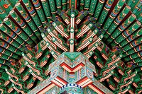 Brilliant Colors Of Temple,Korea
