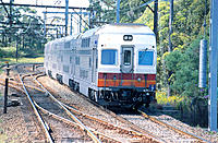 Double deck interurban electric passenger train. Australia