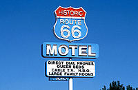 Motel on historic Route 66. USA