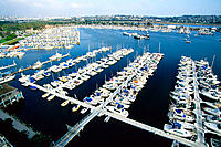 Boats in marina. San Diego. California, USA