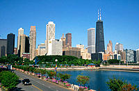 Chicago skyline with John Hancock Tower. Illinois, USA