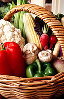 Basket of fresh vegetables