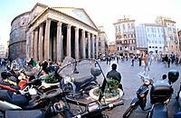 The Pantheon in Piazza della Rotonda. Rome. Italy