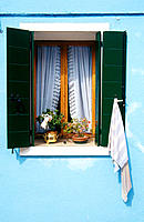 Architectural detail. Burano Island. Venice Lagoon. Italy