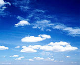 White clouds and blue sky. Laval. Quebec. Canada