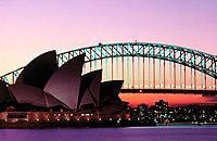 Opera House and Harbour Bridge. Sydney. Australia