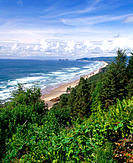 Oregon coast from Cape Lookout. Pacific Ocean. Tillamook County. Oregon. USA