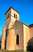 Roman Church in Gevrey Chambertin. Cote d'or. Burgundy. France