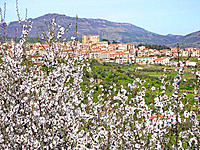 Castelbuono, Parco delle Madonie in background. Sicily, Italy