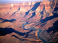 Aerial view of Grand Canyon in winter. Arizona, USA