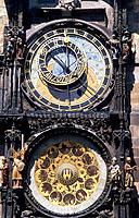 Astronomical clock, Old Town Hall. Prague. Czech Republic