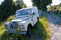 Abandoned Land Rover. Powys, Wales. UK