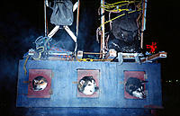 Sled dogs arrive for The Fur Rendezvous Festival.Anchorage, Alaska,USA