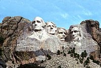 Mount Rushmore National Memorial located outside of Rapid City South Dakota