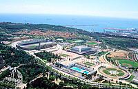 Olympic area, Montjuic. Barcelona. Spain
