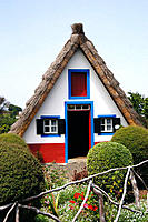 Traditional thatched house. Santana. Madeira Island, Portugal