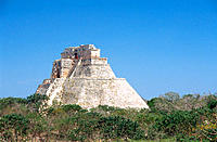 Pyramid of the Magician. Uxmal. Yucatan. Mexico