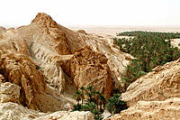 Chebika, South Tunisia rock desert