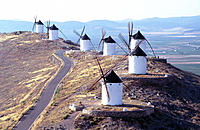 Windmills in Consuegra. Toledo province, Spain