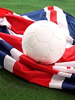 Soccer Ball on British Flag