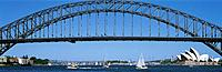 Sydney Harbor Bridge and Opera House, Sydney, Australia