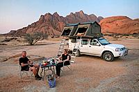 Namibia, Africa, Mount Spitzkoppe, Summer 2007, Africa, landscape, nature, mountain, mountains, desert, couple, two, p