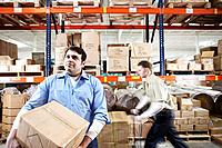 Men Working in Warehouse