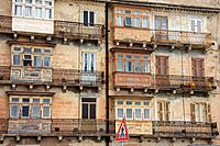 Malta, Valletta, Valetta, Travel, buildings, Front, architecture, balcony, oriel