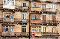 Malta, Valletta, Valetta, Travel, buildings, Front, architecture, balcony, oriel