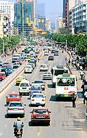China, Asia, Kunming, Yunnan Province, town, Kunming, city, Downtown, traffic, Beijing Lu, Asia, traffic, architecture
