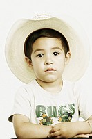 Young Boy in Cowboy Hat